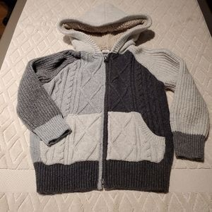 Baby Gap zip up cable knit sweater